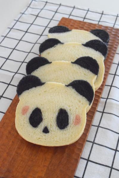 くま型で♪パンダ食パン