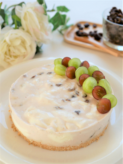 レーズン嫌いのためのレアチーズケーキ♪
