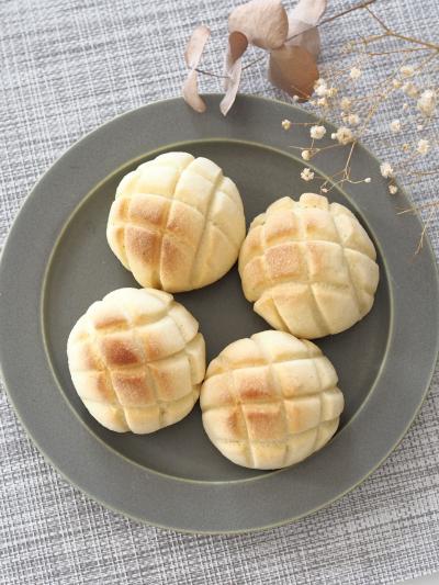 *オーブントースターで作るミニメロンパン*