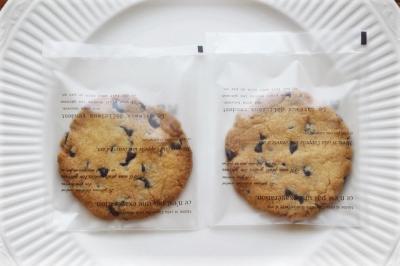 チョコチップクッキーのラッピング