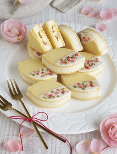 爽やか♪レモンとマーマレードのバターサンドクッキー