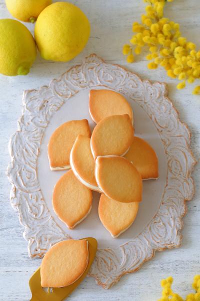 レモンバタークリームサンドクッキー