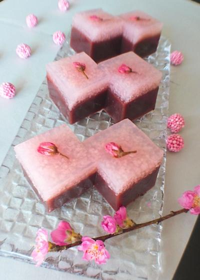 桜餅羊かん(小豆こし餡)