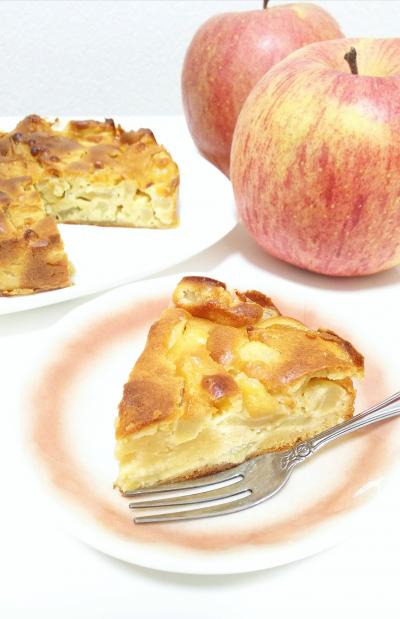 簡単りんごケーキ◇砂糖・バター・牛乳不使用