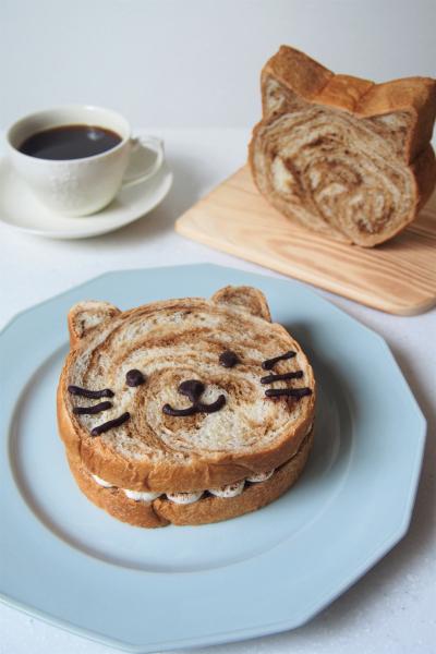 コーヒーマーブルねこパンで作るティラミス風サンド