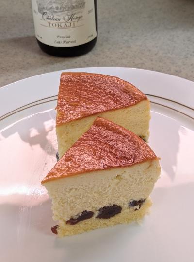 レーズンたっぷりスフレチーズケーキ