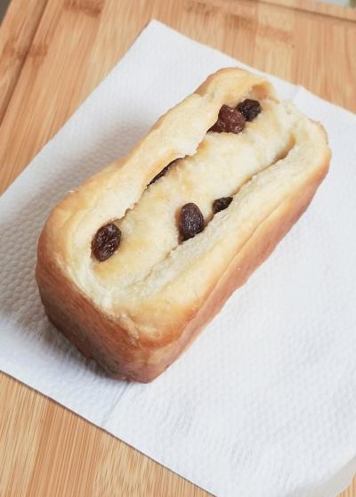 レーズンたっぷりの塩バタートップ☆ミニ食パン