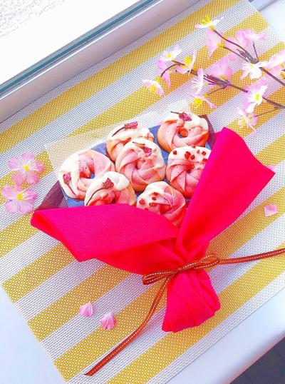 桜の花束クッキー♡