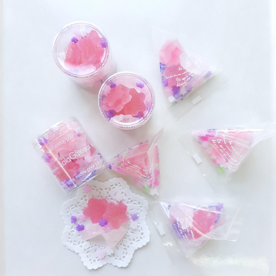 クリアケースでキラキラ可愛い琥珀糖のラッピング