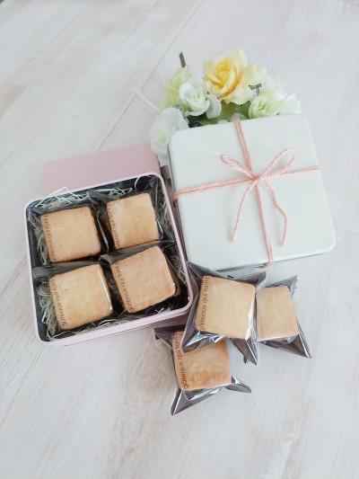 塩キャラメルナッツの生チョコサンドクッキーのラッピング