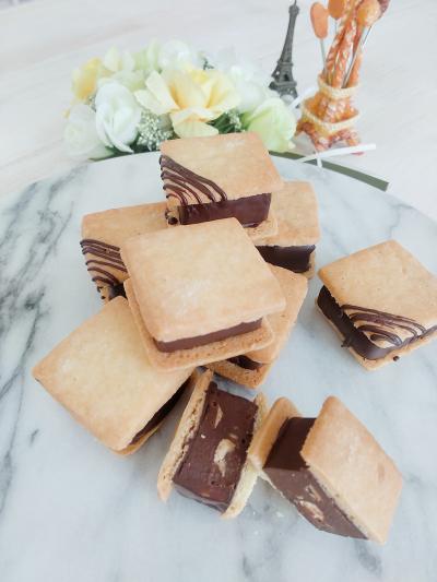 キャラメルナッツの生チョコサンドクッキー