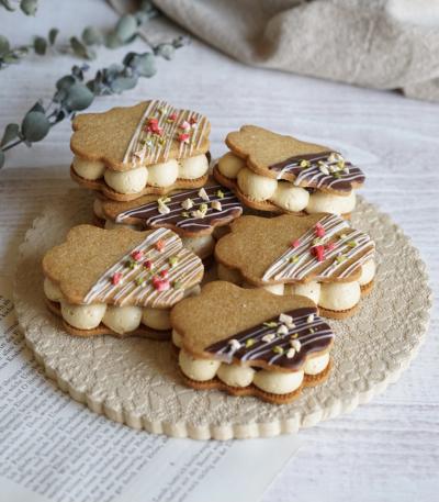 ほうじ茶バターサンドクッキー