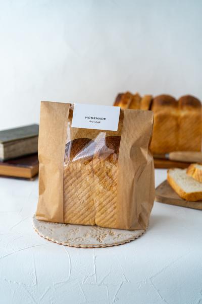 スリムなハード食パンのラッピング
