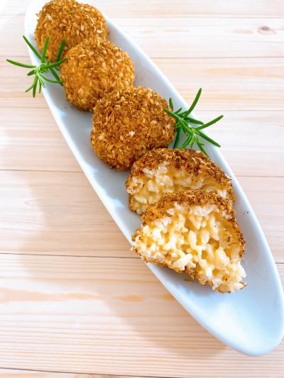 チーズリゾットの揚げないライスコロッケ