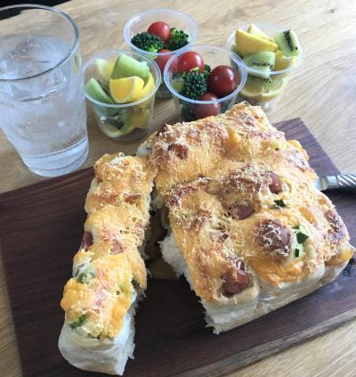 スモークチーズの3種のちぎりパン