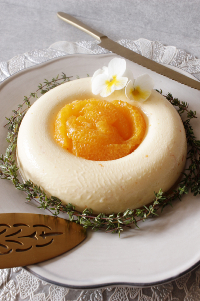 オレンジのチーズババロア