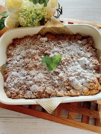 バター香る「りんごのクランブルケーキ」
