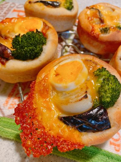 野菜とチーズの焼きカレーマフィン