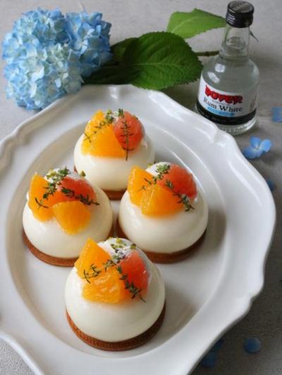 オレンジレアチーズムース