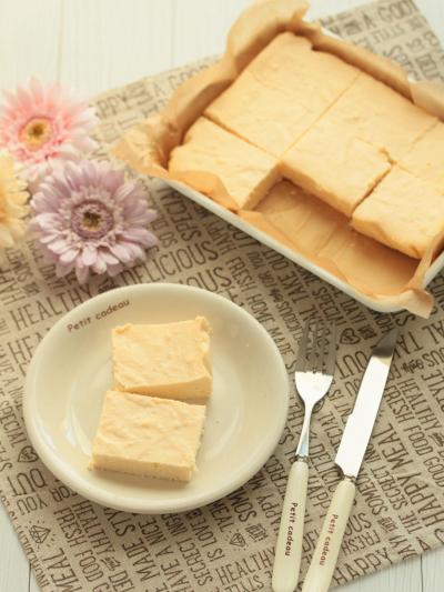 * 焼くまで10分 ♡ ソイチーズケーキ♪