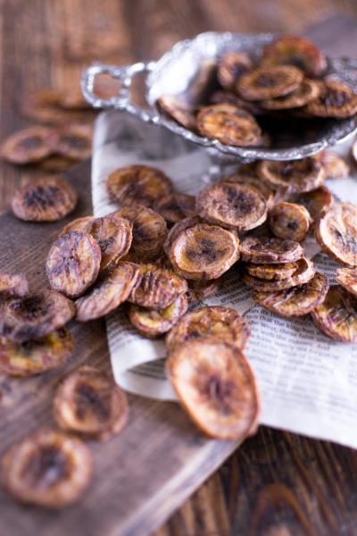 ココナッツオイルで簡単おやつ・バナナチップス