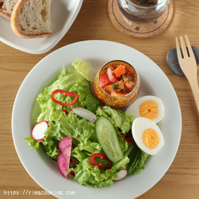 食べるドレッシング!トマトドレッシングのサラダ