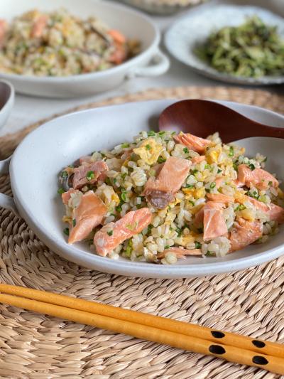 鮭と卵の焼き飯