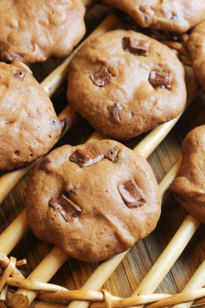 簡単・レンジですぐ出来る・チョコチップクッキー