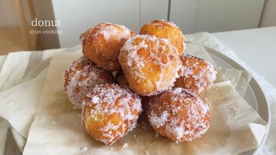 [材料2つで絶品・簡単すぐできる] モッチモチのドーナツ