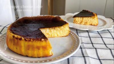 [材料3つ・スーパーカップで作る] 濃厚バスクチーズケーキ