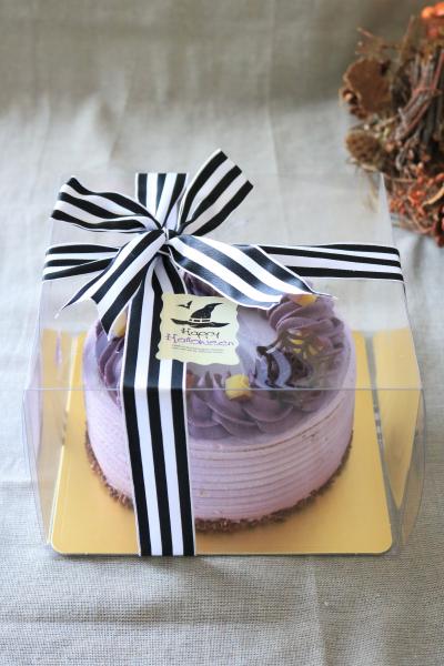ハロウィンデコレーションケーキのラッピング
