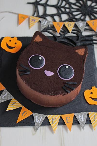 黒猫のガナッシュケーキ