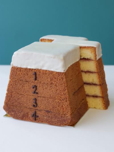 とび箱パウンドケーキ (バニラ×ラズベリー)
