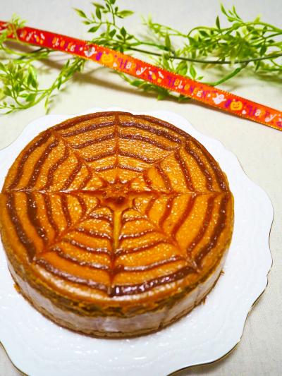 ハロウィンにぴったり!キャラメルパンプキンチーズケーキ