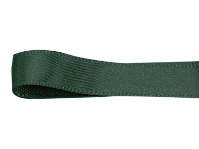 シングルサテンリボン 9mm 濃グリーン