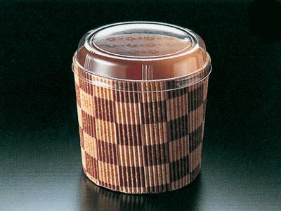ミニシフォンPET蓋付(茶ブロック)