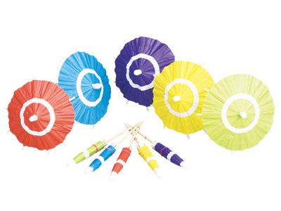 五色ミニ傘