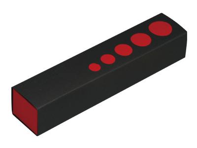 スリーブケース黒/赤 5仕切