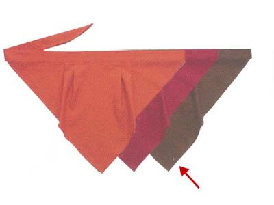 三角巾A 茶