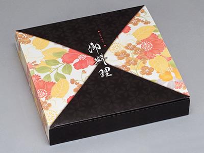 紙ボックス 80-80 黒椿(中仕切付)黒