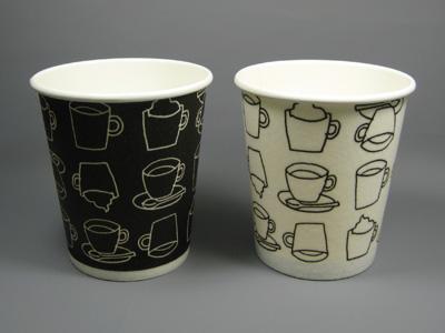 ホット用発泡断熱カップ カフェモダン(2色) 8オンス