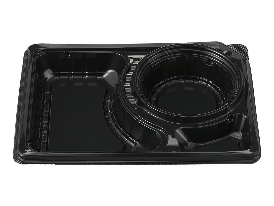 デリカランチ DL-26-19 黒(嵌合蓋セット)