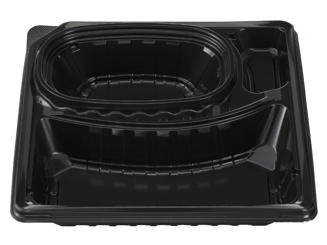 デリカランチ DL-23-23 黒(嵌合蓋セット)