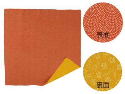 フロシキ 華優彩 松に梅 赤×橙