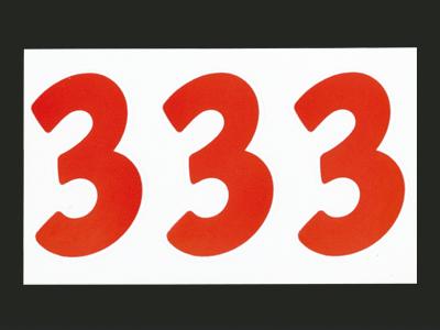 ナンバーセルフM赤 3 (21片入)