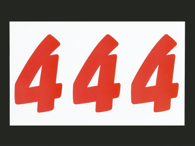ナンバーセルフM赤 4 (21片入)