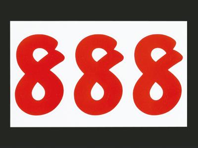 ナンバーセルフM赤 8 (21片入)
