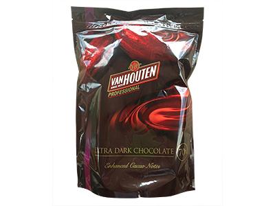 冷蔵便 バンホーテン エキストラダークチョコレートD70CI-16 1kg