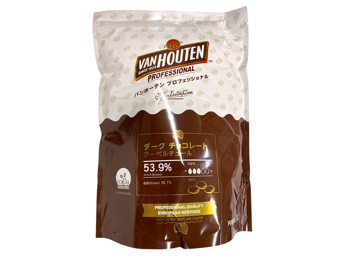 冷蔵便 バンホーテン ダークチョコレートD54CI 1kg