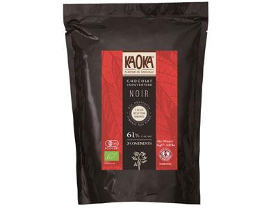 冷蔵便 カオカ オーガニックチョコ トロアコンチネンツ 61% 1kg
